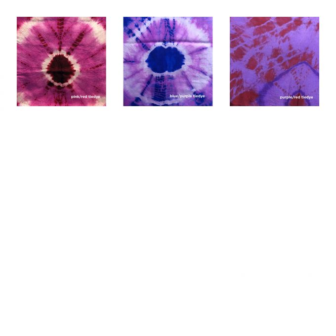 silk tunic tie dye swatches