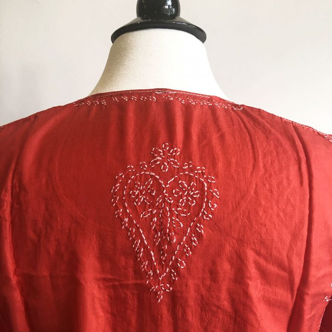 silk tunic back